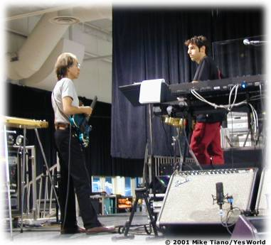 Tom with Steve at rehearsals